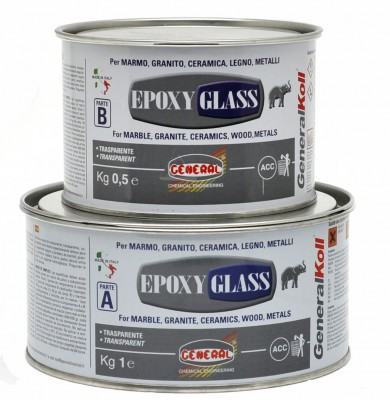 Клей мастика GENERAL EPOXY GLASS SOLID